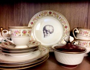 Skull, tea set, alternative design, coffee set