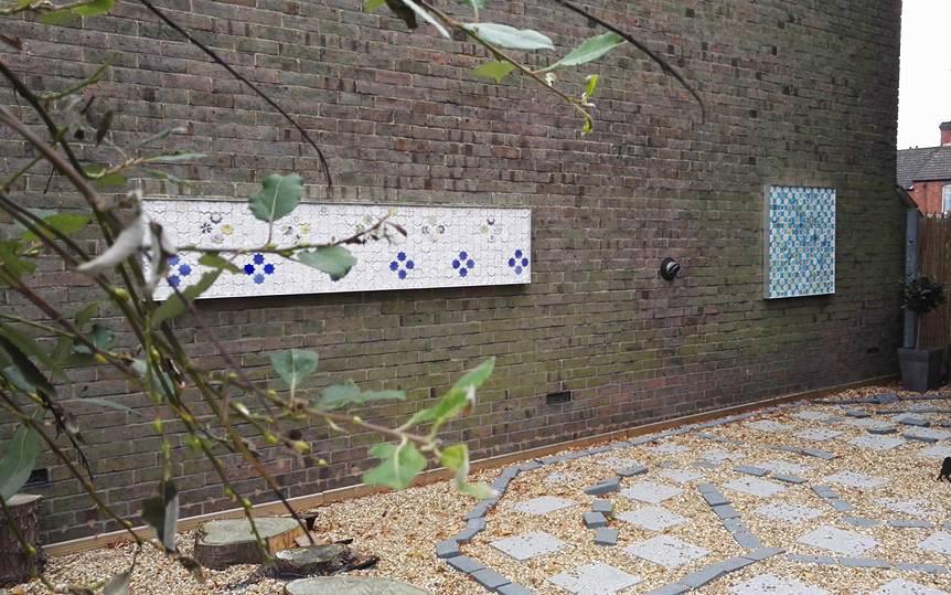 Peace garden, Breath of the Compassionate, Luton, mural, faith