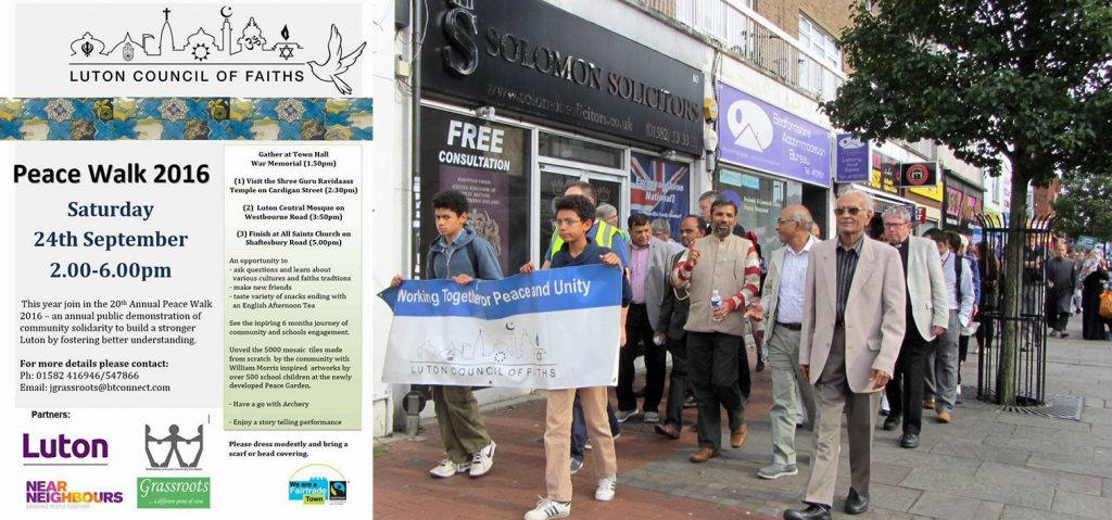 Luton Council of Faiths, Peace Walk, Community