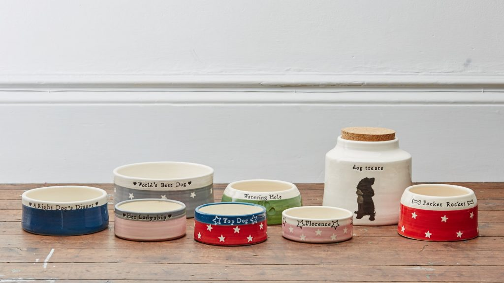 Personalised spaniel bowls