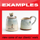 click here for examples of ceramic ware made with digital ceramic prints