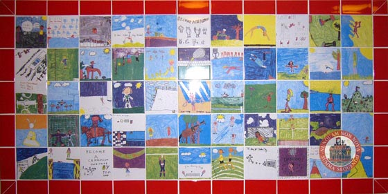Tile Mural of Children's Art